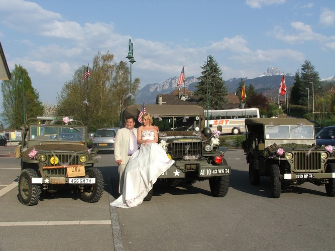 mariage mariée jeep